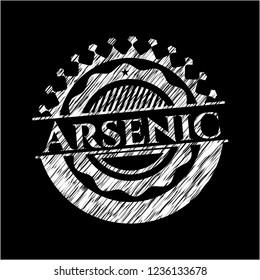 Arsenic written on a chalkboard