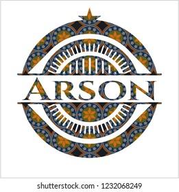 Arson arabesque emblem background. arabic decoration.
