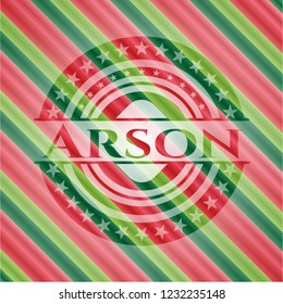Arson christmas style badge..