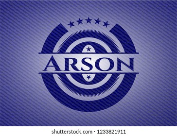 Arson emblem with jean texture