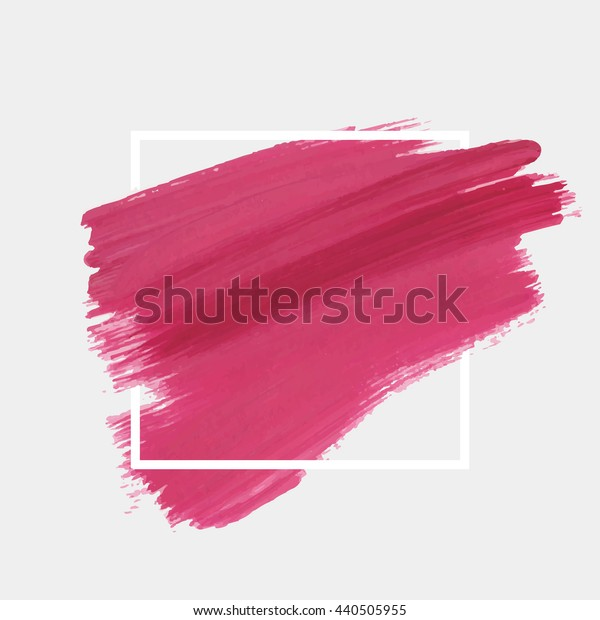 Art abstract background brush paint texture design acrylic stroke poster illustration vector over square frame. Rough paper hand painted vector. Perfect design for headline, logo and sale banner.