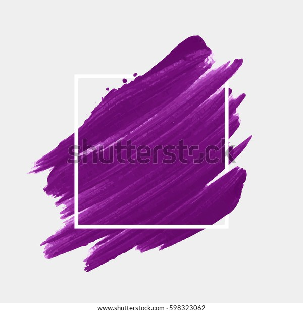 Art abstract background brush paint acrylic texture design poster illustration vector over square frame. Perfect watercolor design for headline, logo and sale banner.
