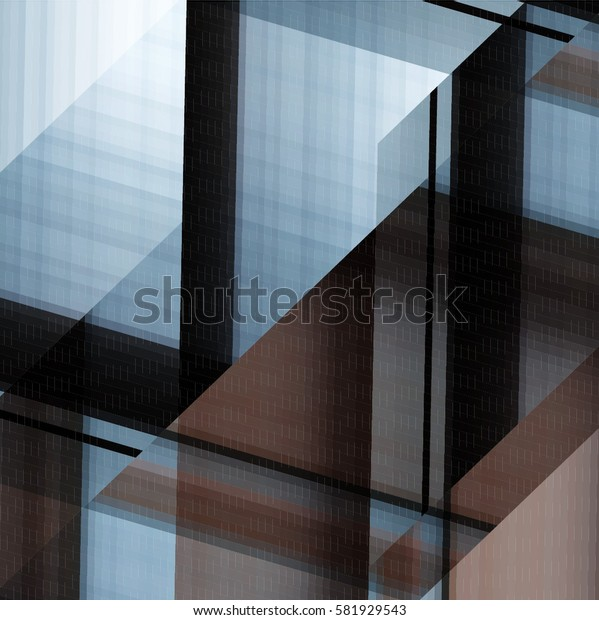 art abstract geometric pattern of pixels; Background in black, gray colors
