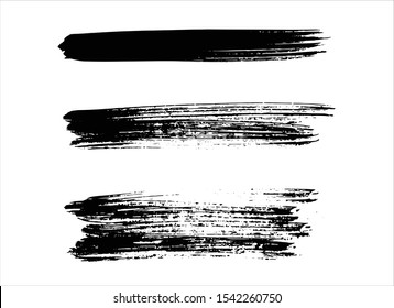 art abstract ink paint stroke background vector