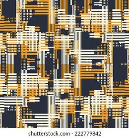 Art abstract urban motif geometric  background. Seamless pattern. Vector.