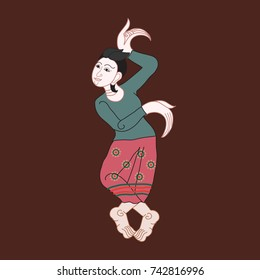 Art of Applied Thai Painting Illustration (Vector)