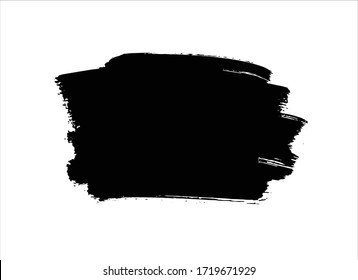 art black ink abstract brush stroke paint background
