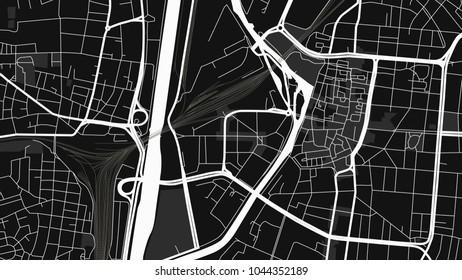art black white map city