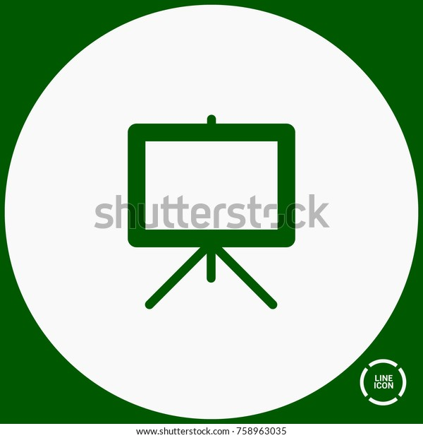Art board minimal vector icon. Canvas flat line icon for websites and mobile minimalistic flat design.