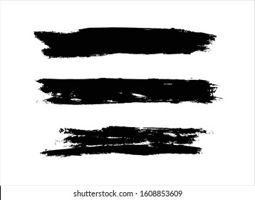art brush paint stroke background ink black