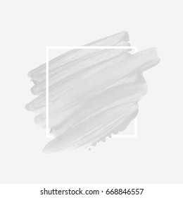 Art brush painted acrylic abstract background design illustration vector over square frame. Perfect watercolor design for headline, logo and sale banner.