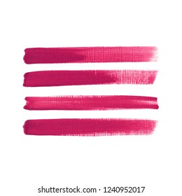 Art brush painted textured stripes set isolated vector background. Watercolor stroke set.