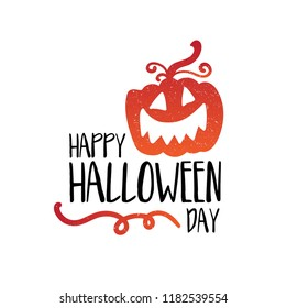 Art card for Happy Halloween.Design template for flyers, posters,ecards, invitations, brochures. Creative style. Vector illustration