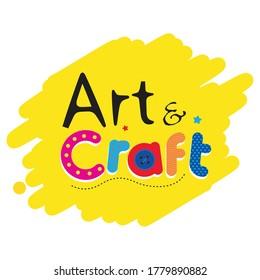 Art & craft book logo for children book