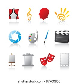 Art creativity music painting directing and composing logo template icons