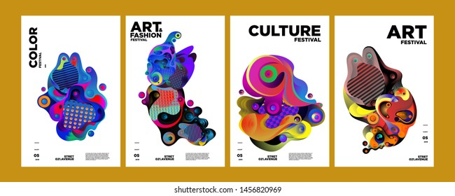 Art, Culture, and Fashion Colorful Illustration Poster. Abstract Illustration for festival, exhibition, event, website, landing page, promotion, flyer, digital and print.