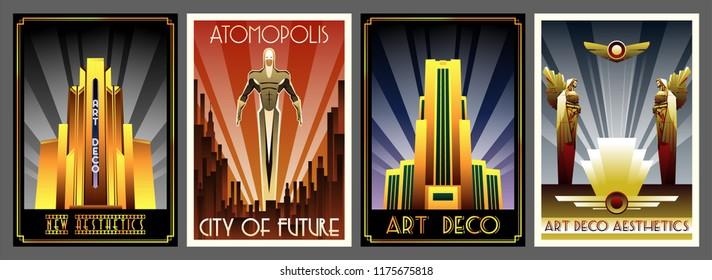Art Deco Aesthetics. Retro Futurism Posters from the Roaring Twenties