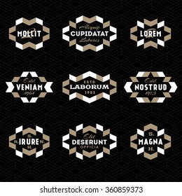 art deco antique luxury vintage monochrome old hipster minimal geometric linear vector frame , border , label  for your logo, badge or crest and seamless background