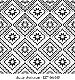 Art Deco Batik Seamless Pattern Decorative Background