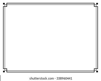 飾り 罫 枠 シンプルのベクター画像素材画像ベクターアート