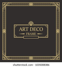 1920s images stock photos vectors shutterstock art deco border and frame creative template in style of 1920s for your design toneelgroepblik Choice Image