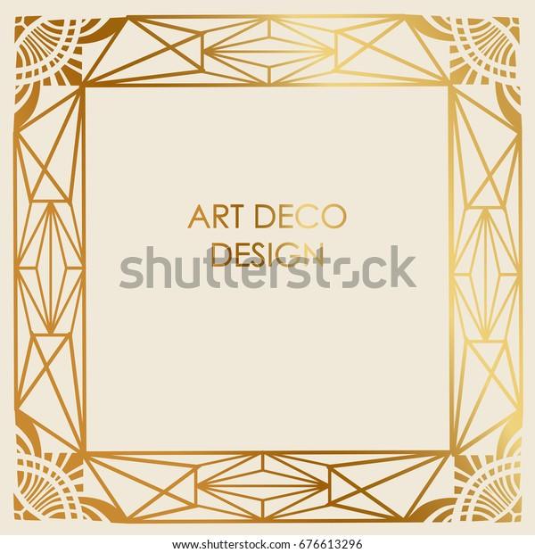 Art Deco Design Vector Template