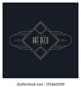 Art deco elements design - vector