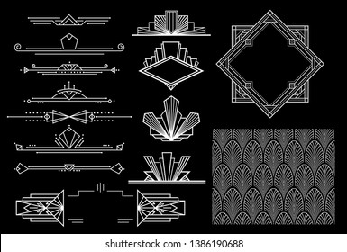 art deco elements - vector