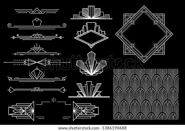 art deco elements - vector