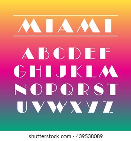 Art deco font Retro geometric design Letters and numbers Vector abc