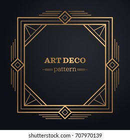 art deco frame background