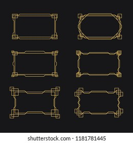 Art Deco Frame Collection. Golden Art Deco. Great Gatsby Style Frames.
