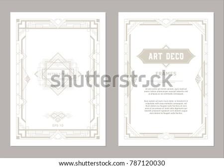 534bde3a555 Art Deco Frame Design Geometric Frames Stock Vector (Royalty Free ...