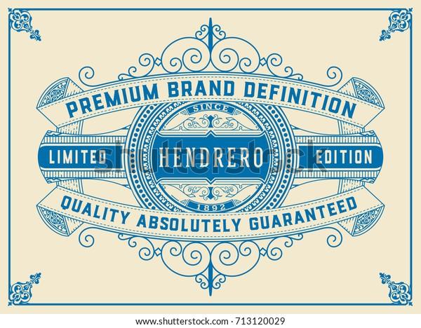 Art Deco Frame Label Design Resource Stock Vector (Royalty
