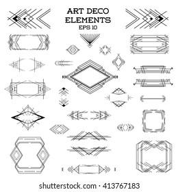 Art Deco Frame. Vintage. Design Elements. Vector. Wedding Template. Retro Border.  Artdeco Illustration. Card Decoration.