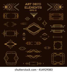 Art Deco Frame. Vintage Design Elements. Vector Frames. Wedding Template. Retro Border.  Artdeco Illustration. Card Decoration.