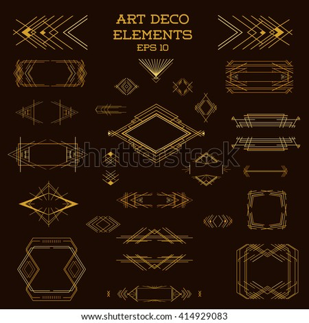 Art Deco Frame Vintage Design Elements Stock Vector Royalty Free