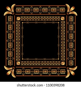 art deco frames and borders