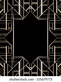 Art deco geometric patterned background (1920's style)