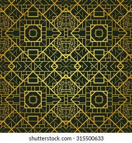 Art deco geometric patterned background