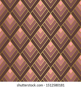 Art Deco Golden Seamless Pattern. Gatsby Luxury Retro Background