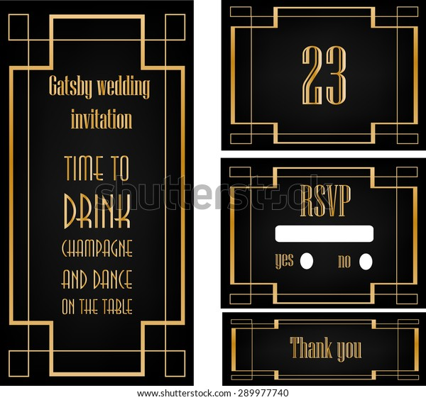 Art Deco Great Gatsby Wedding Theme Stock Vector (Royalty Free ...