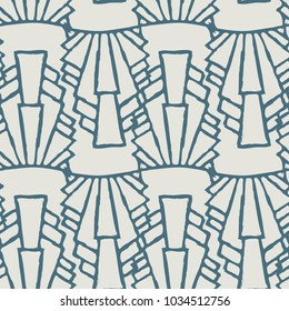 Art Deco Inspired Seamless Pattern