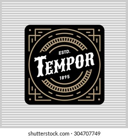 art deco monochrome luxury antique gold hipster minimal geometric vintage linear vector frame , border , label  for your logo, badge or crest for club, bar, cafe, restaurant, hotel, boutique