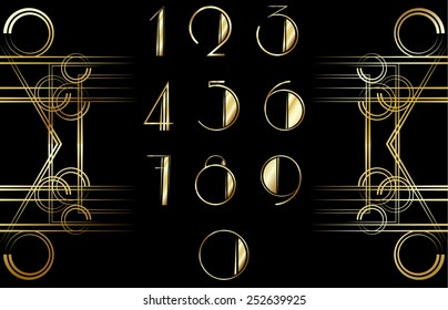 Art Deco number pattern