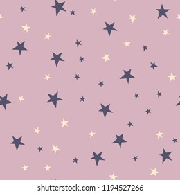 From Art Deco pattern Collection, Gatsby era. Seamless vector star pattern. Dusty pink with ivory, plum. Party invitations, textiles, home decor, decorations, gift wrapping, packaging. Modern baby.