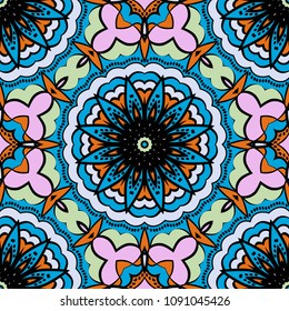 Art deco pattern of floral elements. seamless pattern. Vector illustration. design for printing, presentation, textile industry