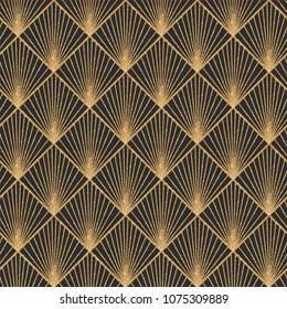 art deco seamless geometric pattern 260nw 1075309889