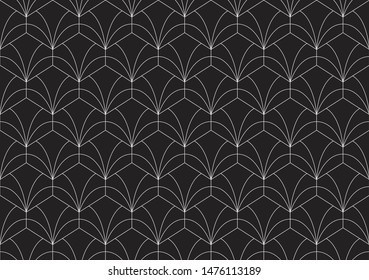 Art deco seamless pattern. Abstract vector background. Geometric elegant texture.