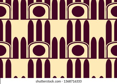 Art Deco seamless vintage retro pattern. Geometrical background for design. Texture for tile, parquet, wrapping paper, wallpaper, fabric